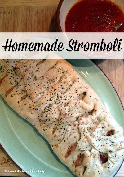 Homemade Stromboli