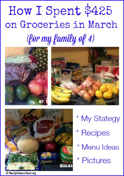 How I Spent $425 on Groceries in March
