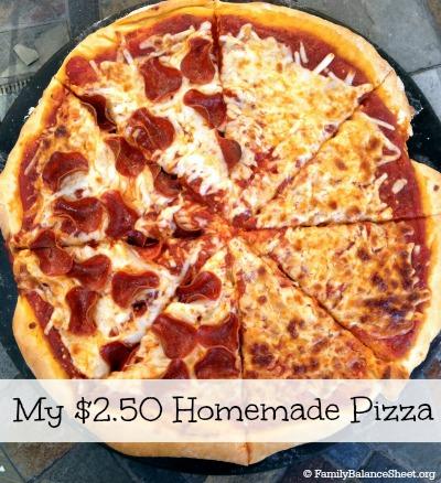 My $2.50 Homemade Pizza