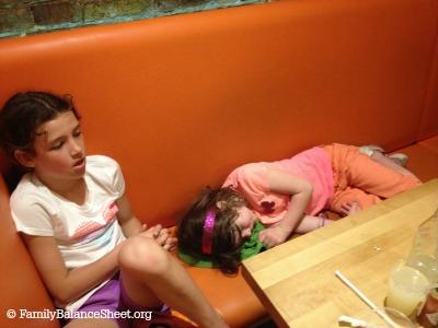 asleep at S'Mac