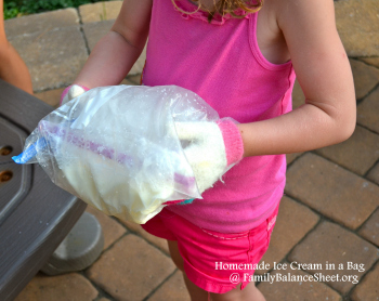 homemade ice cream in a bag 350