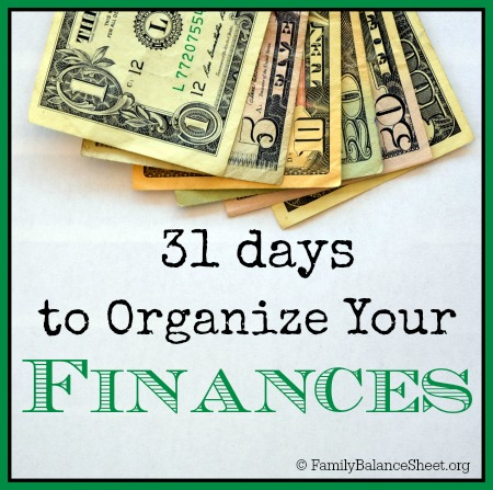 31 Days to Organize Your Finances
