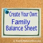 Create a Family Balance Sheet
