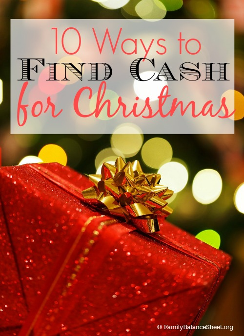 10 Ways to Find Cash for Christmas