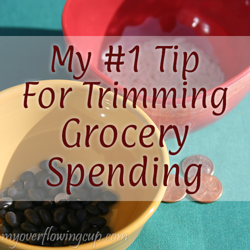 My #1 Tip for Trimming Grocery Spending