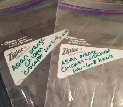freezer cooking - label bags