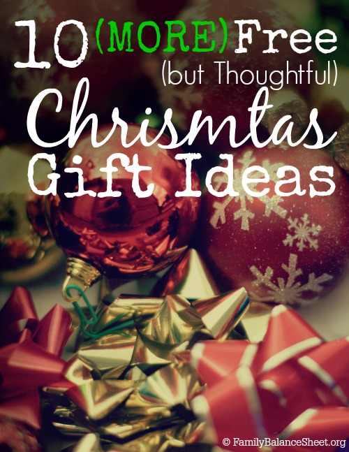 10 Free Christmas Gift Ideas
