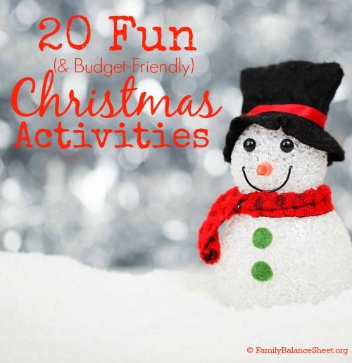 20 Fun & Budget Friendly Christmas Activities