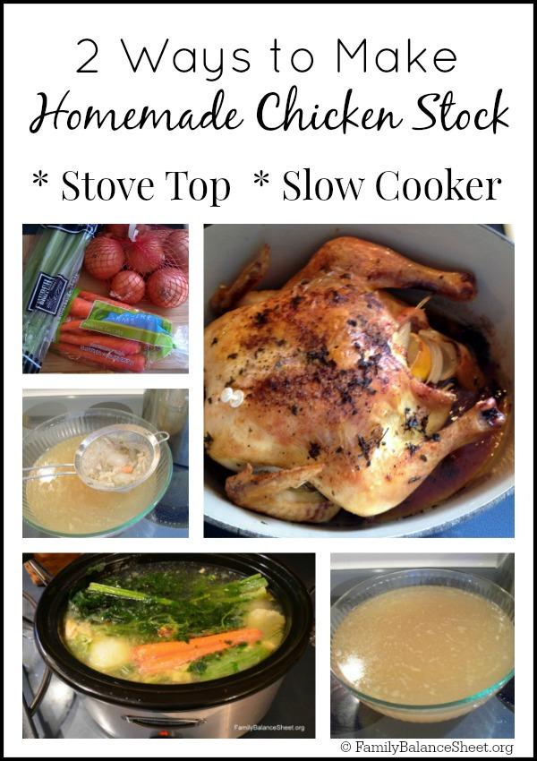 2 ways to make homemade chicken stock