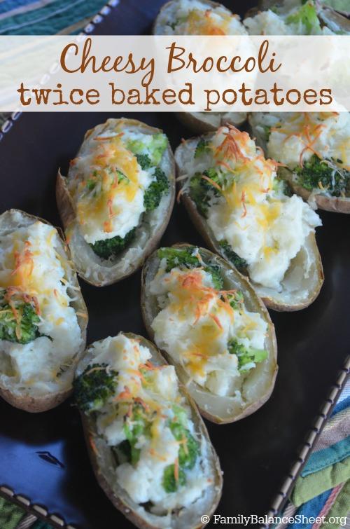 Cheesy Broccoli Twice Baked Potatoes