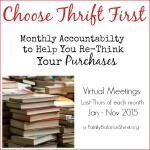 Choose Thrift First Challenge – January Meeting