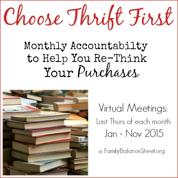 Choose Thrift First Challenge