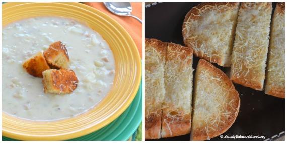Cheap but tasty homemade croutons & garlic bread