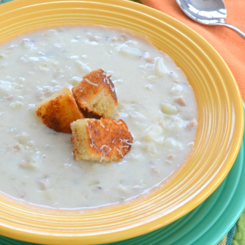 New England Clam Chowder sq