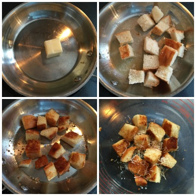 how to make stove top croutons