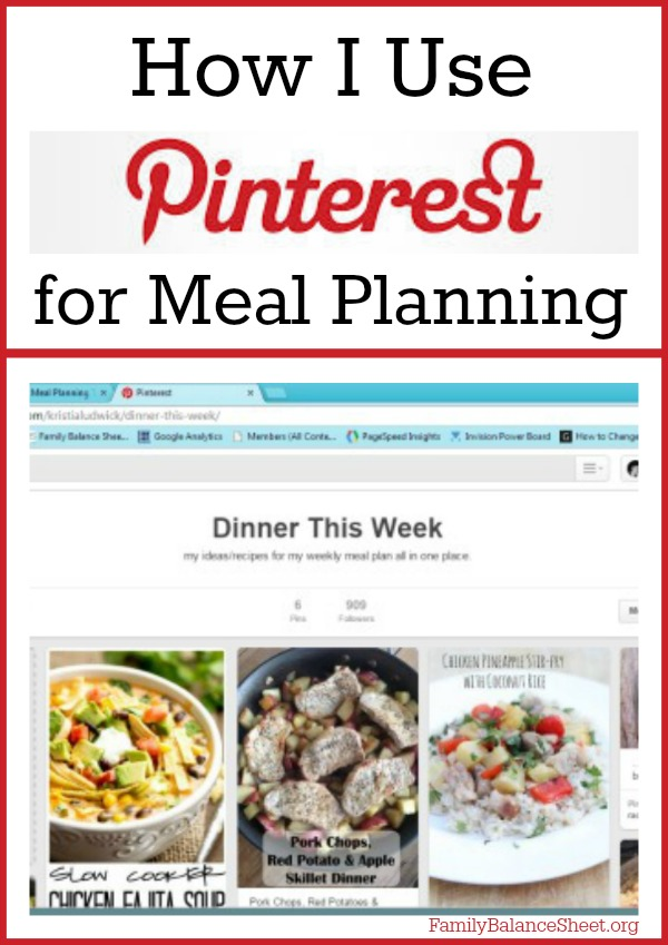 How I Use Pinterest for Meal Planning