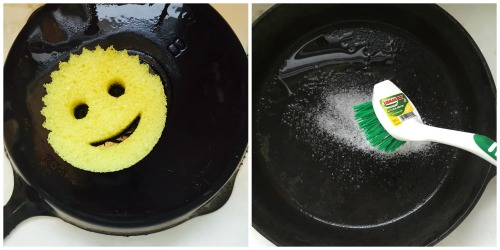 I scrubbed with kosher salt and a brush and a Scrub Daddy.