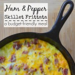 Ham & Pepper Skillet Frittata – a budget-friendly meal
