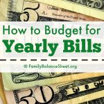 How to Budget for your Yearly Bills