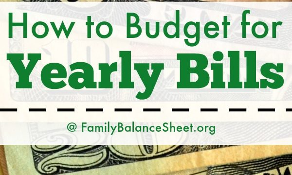How to Budget (and Pay) for Yearly Bills + a FREE Speadsheet