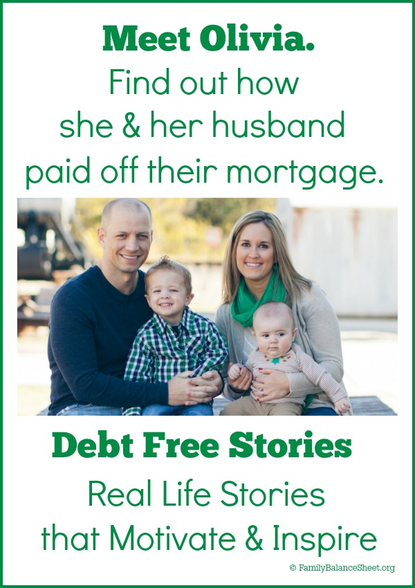 Find out how Olivia & her husband paid off their mortgage in 33 months.
