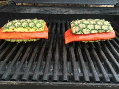 pineapple planked salmon