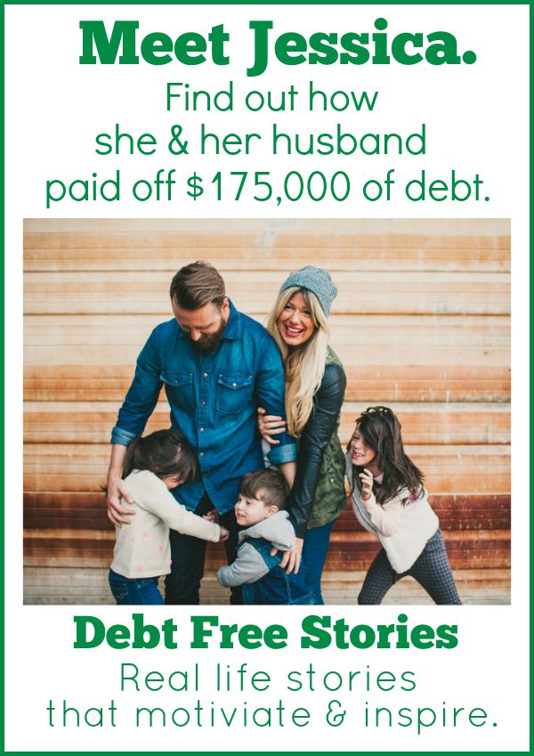 Jessica & her husband paid off $175,000 of debt.