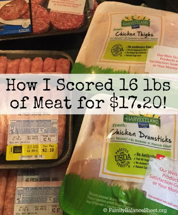How I Scored 16 lbs of meat for $17.20