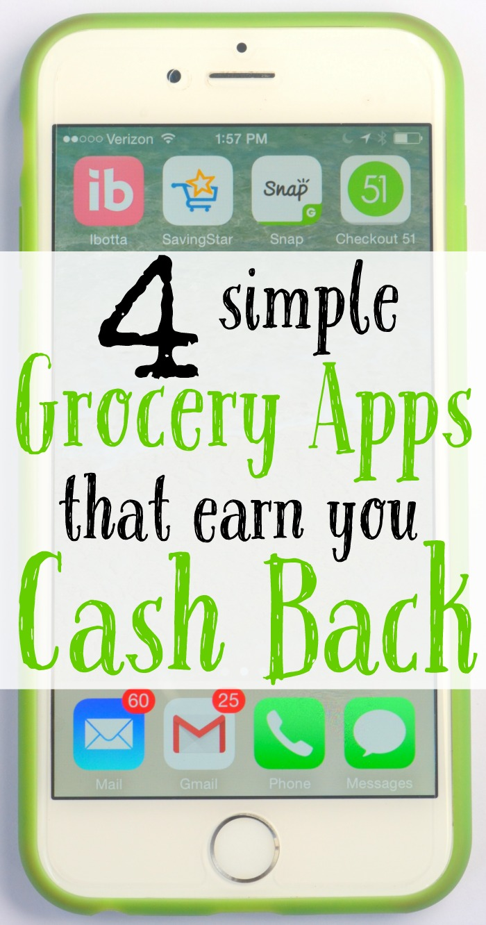 4 simple grocery apps that will earn you cash back.