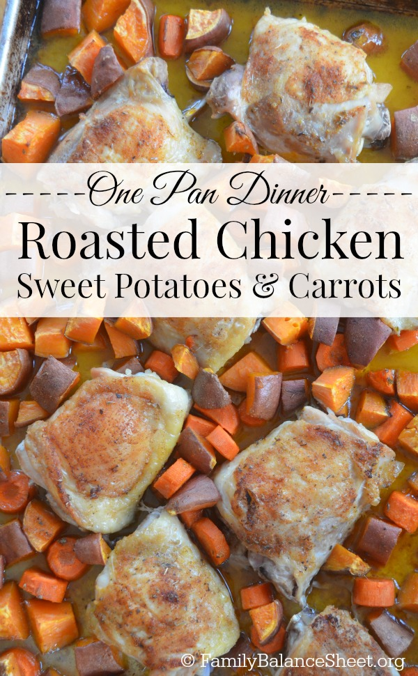 Roasted Chicken, Sweet Potatoes & Carrots