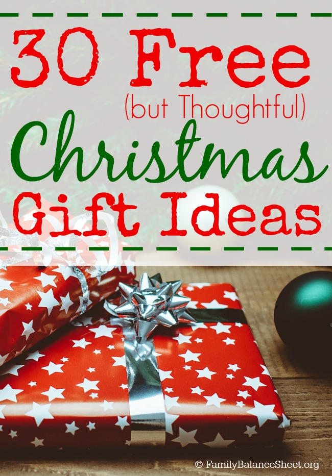 30 free but thoughtful christmas gift ideas family balance sheet free christmas gift ideas negle Image collections