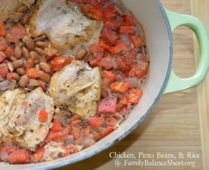 Chicken Pinto Beans Rice Casserole 500