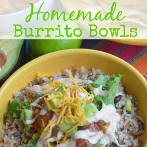 Homemade Burrito Bowls square