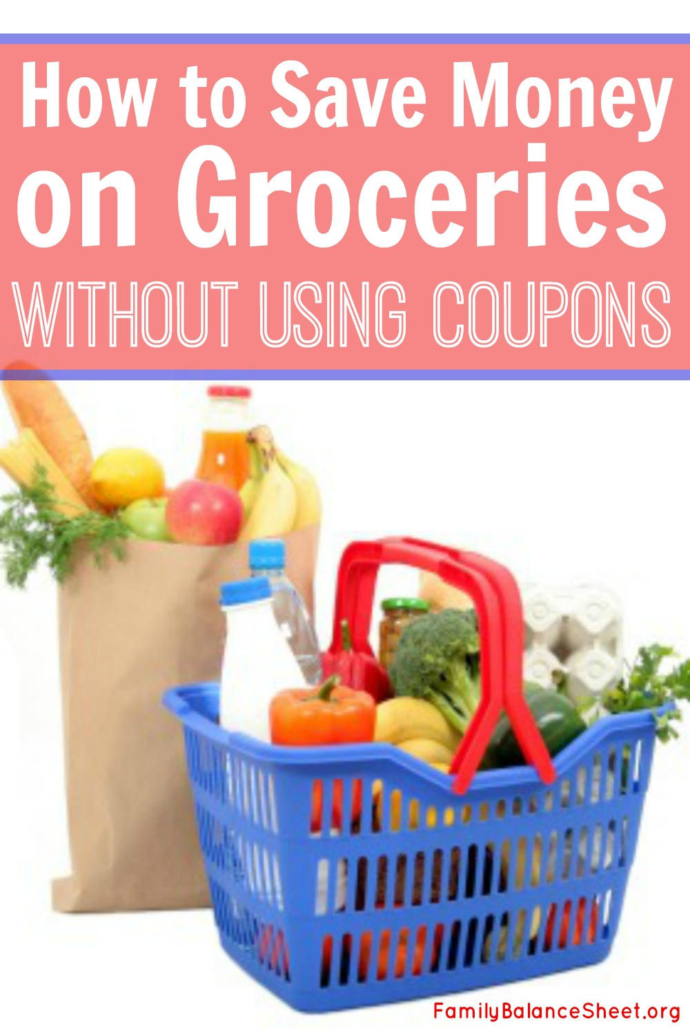 Save on Groceries without Coupons. When my first baby was born, we made a frugal living plan for me to stay home for a year. We downsized our apartment, created a budget, and cut back on extra spending.