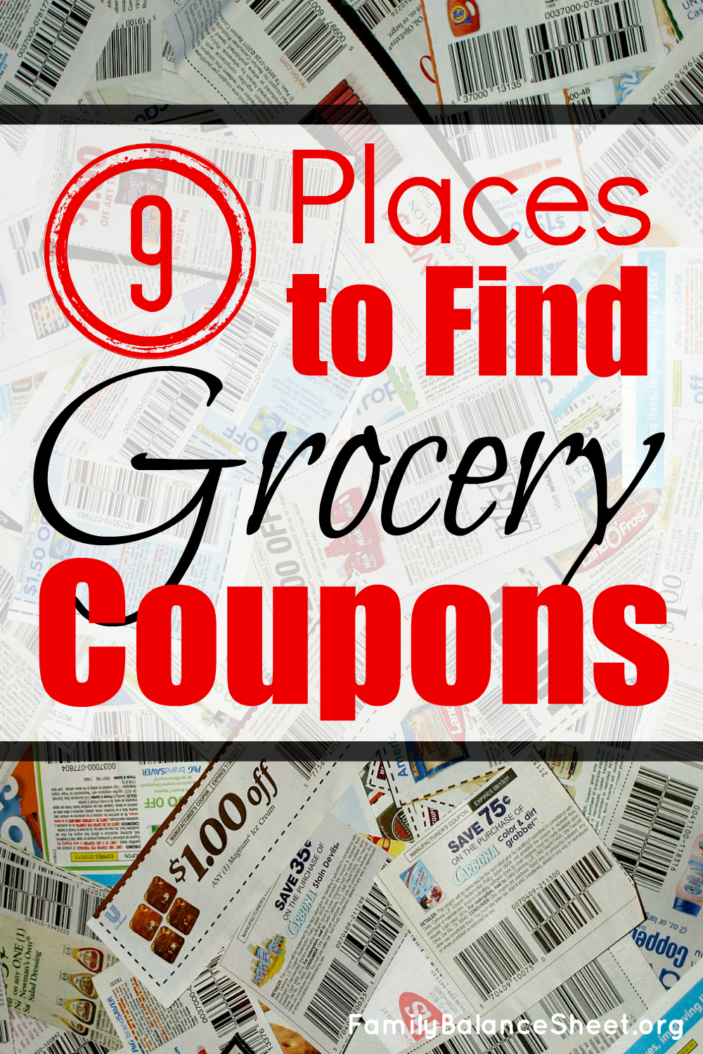 9 Places to Find Grocery Coupons