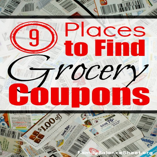 9 places to find grocery coupons sq