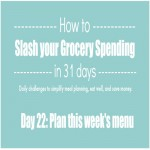Day 22 of 31 Days to Slash your Grocery Spending: Plan this week's meals