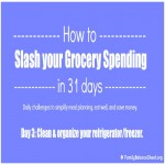 Day 3 of 31 Days to Slash Your Grocery Spending: Organize your Refrigerator/Freezer
