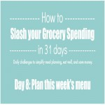 Day 8 of 31 Days to Slash your Grocery Spending: Plan this week's meals