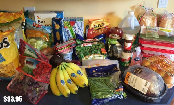 Grocery shopping week 1 a