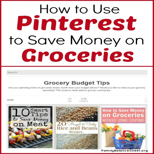 How to Use Pinterest to Save money on Groceries sq