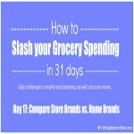 Day 17 of 31 Days to Slash your Grocery Spending: Store Brand vs. Name Brand