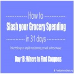 Day 18: 9 Easy Places to Find Grocery Coupons