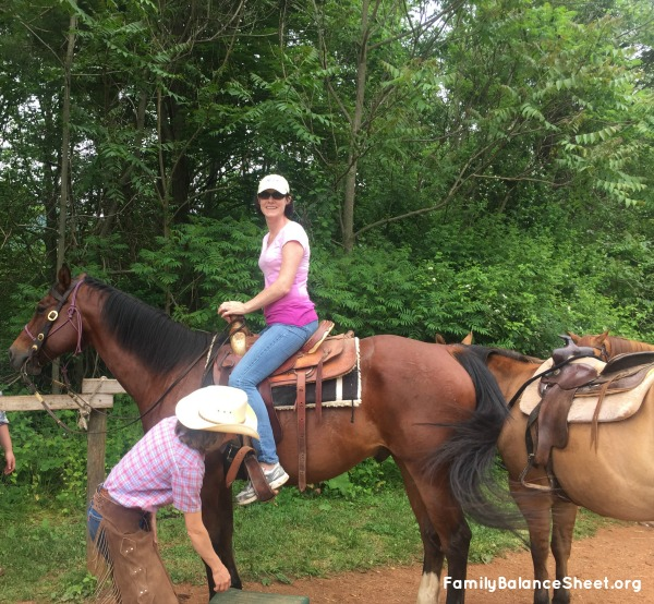 Giddy up! Ready for my riding tour.