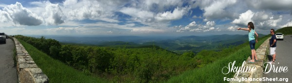 Skyline Drive panoramic view