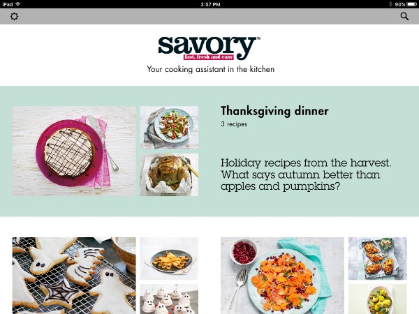 Savory Cooking App