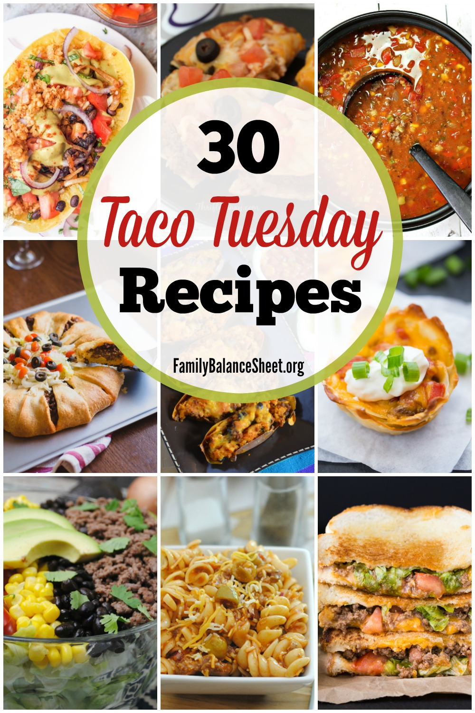 30 Taco Tuesday Recipes Family Balance Sheet