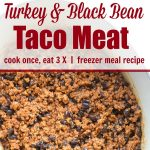 Turkey & Black Bean Taco Meat: Cook Once, Eat 3 Times