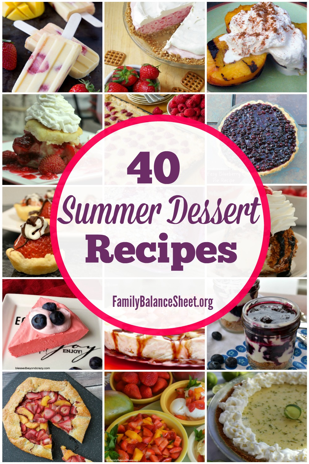 40 Summer Dessert Recipes Family Balance Sheet