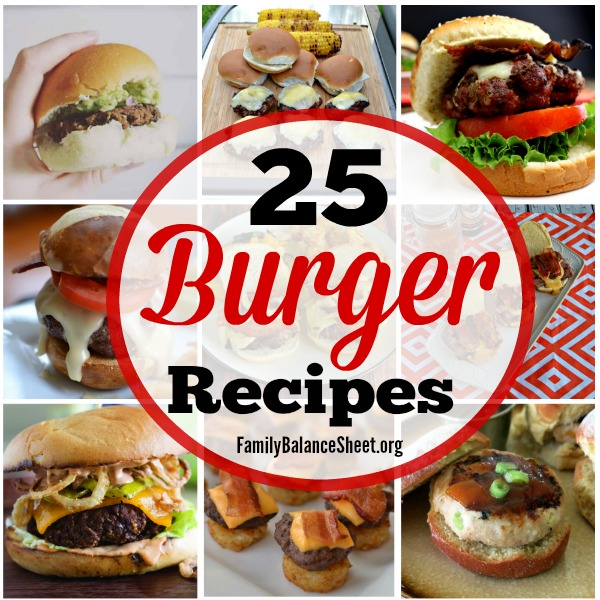 25 Burger Recipes